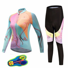 2019Summer Women Cycling Jersey Set Pro Cycling Clothing Cycling Sets Bike uniform Road Bicycle Jerseys MTB Bicycle Long Sleeve недорого