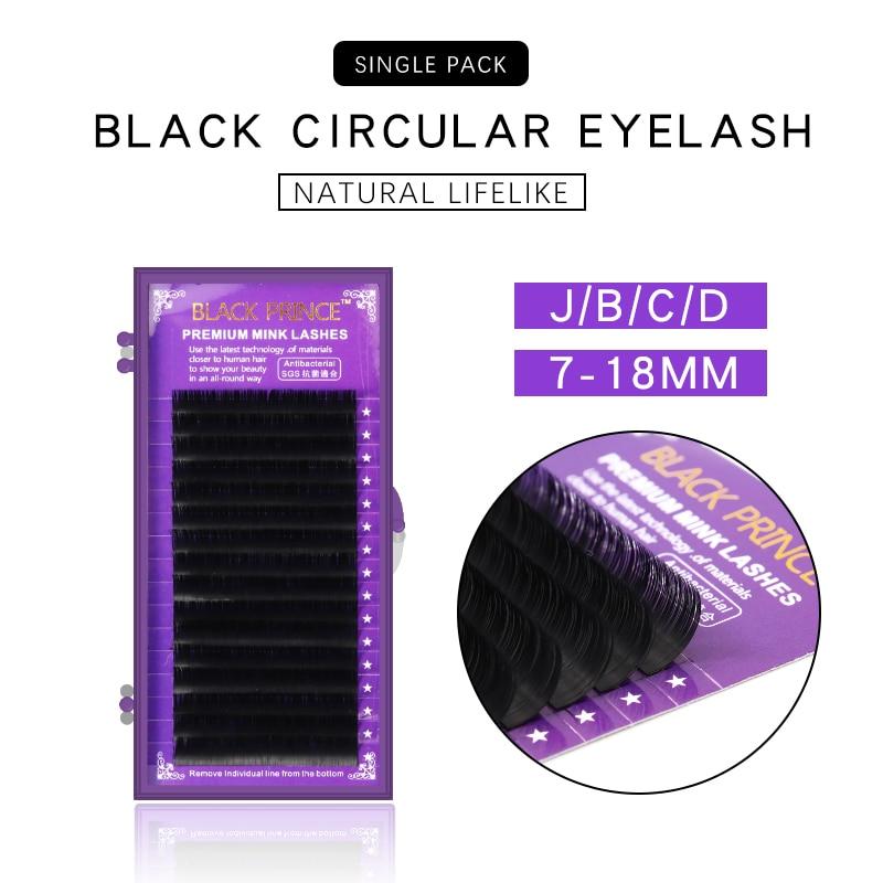 Individual Mink Eyelashes 16/17/18mm Russian Volume Eyelash Extensions Supplies Mega Volume Lashes Individual Lash Extension
