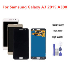 Top quality For Samsung Galaxy A3 2015 A300 A3000 A300F A300M LCD Display + Touch Screen Assembly Brightness Can Adjust+Tools(China)