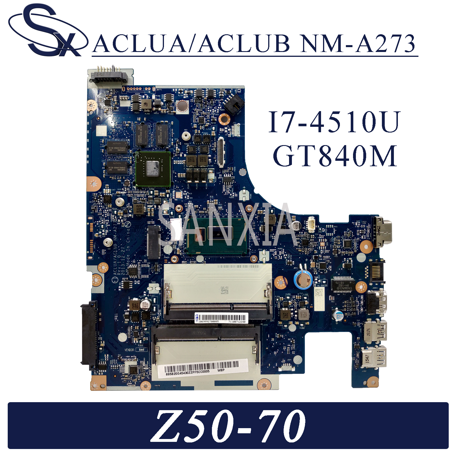KEFU NM-A273 Laptop <font><b>motherboard</b></font> for <font><b>Lenovo</b></font> <font><b>Z50</b></font>-<font><b>70</b></font> G50-70M original mainboard I7-4510U GT840M image