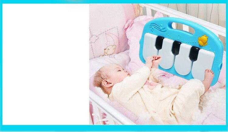 Bebê piano jogar esteira lavável música quebra-cabeça