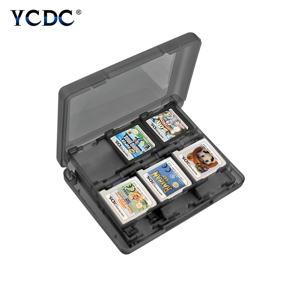 28-in-1 SD 게임 카드 스토리지 박스 안티 스크래치 보호기 케이스 PP 플라스틱 안티 충격 주최자 닌텐도 DS/3DS 2DS NDSi LL