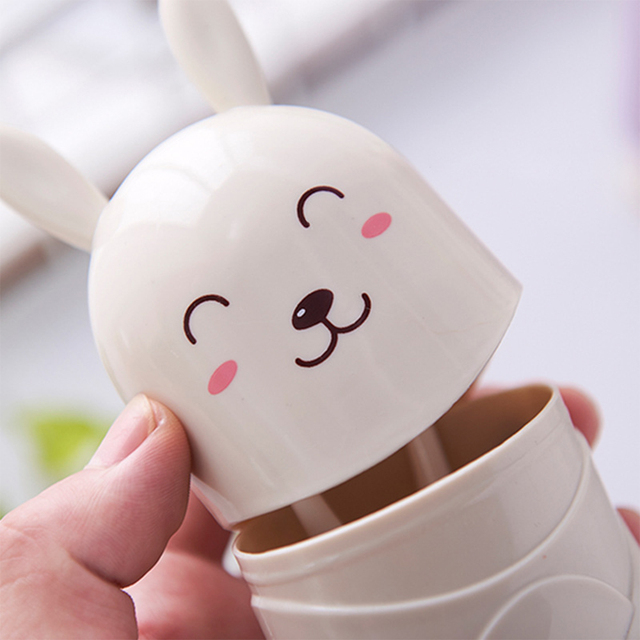Cute Cartoon Rabbit Toothbrush Storage Box Portable Outdoor Travel Tooth Brush Protect Case Bathroom Toothbrush Organizer