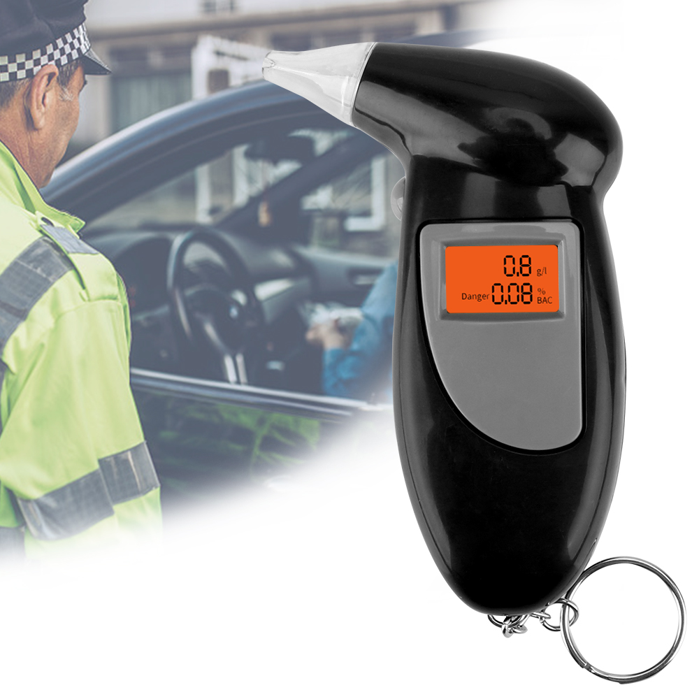 Professional Alcohol Tester Police Alcotest Breathalyzer Alcohol Breath Tester Digital Alcohol Detector Backlight Display