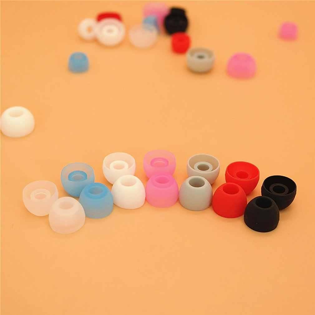 4.5mm podwójne kolorowe wkładki do uszu do słuchawek wskazówki dotyczące słuchawek silikonowe końcówki do uszu małe słuchawki douszne obejmuje wkładki douszne akcesoria