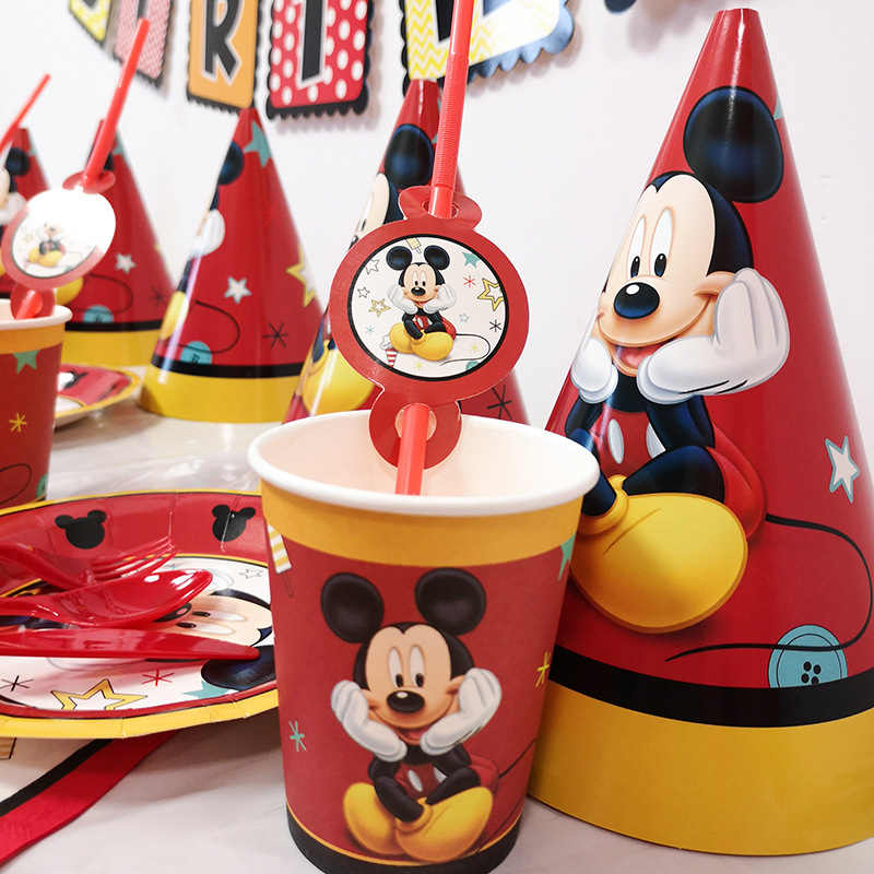 Cartoon Red Mickey Mouse Image Party Supplies Children's Birthday Decoration Red Holiday Baby Bath Products Hanging Jewelry Ball
