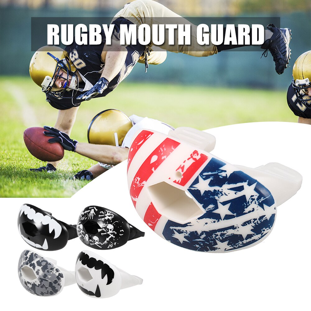Rugby Mouth Guard Food Grade Tooth Protector American Football Mouthguard Lip Protection Sports Mouth Guard Tooth Protector