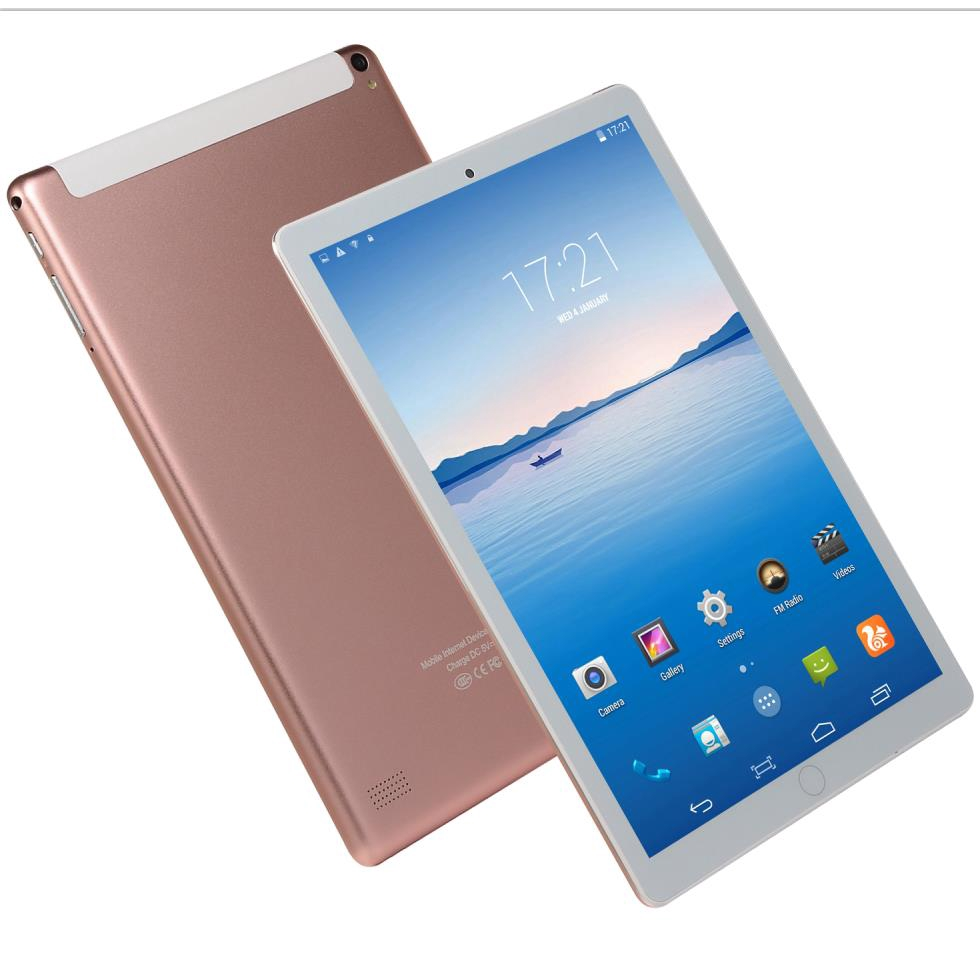 New 10.1 Inch Ten Core 6G+128GB Arge Android 8.0 Tablet PC Dual SIM Dual Camera Bluetooth 4G WiFi Face Recognition Call Phone