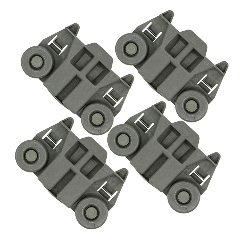 W10195417 Dishwasher Rack Roller Wheel Track Replacement Part Fit for Whirlpool & Kenmore Dishwashers   Replaces AP4538395 PS257 - title=