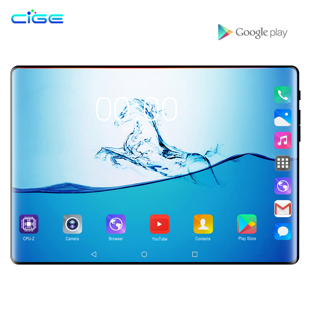 Super Tempered Glass 2.5D 10.1 Inch Tablet PC Android 8.0 OS Octa Core 6GB RAM 64GB ROM 8 Cores 1280*800 IPS Phablet Tablets 10