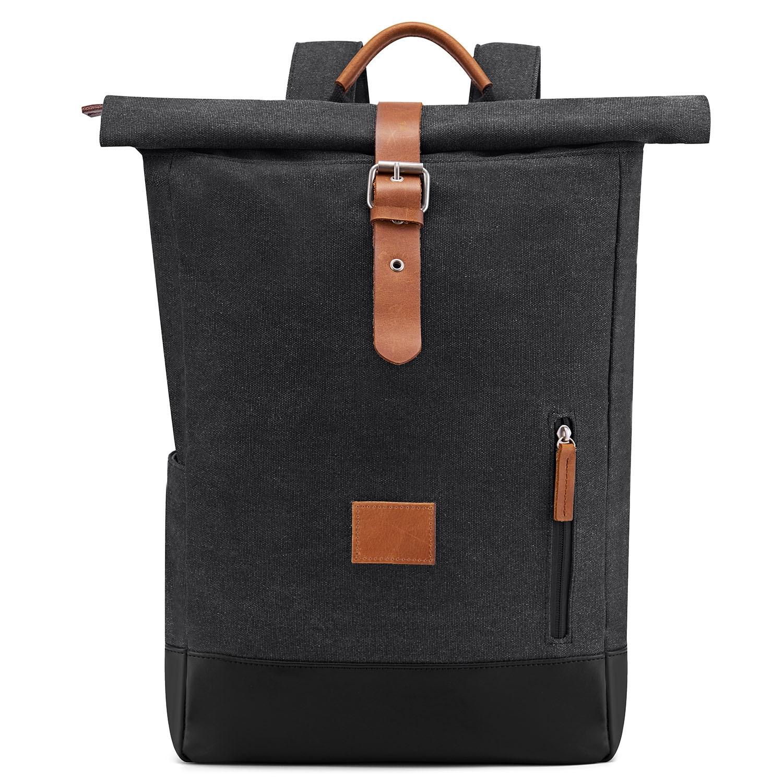 Toile noir sac à dos pour hommes en plein air voyage grande capacité sac à dos sac à main pour hommes designer sacs à dos de haute qualité vente chaude