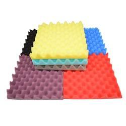 48 UDS-Paneles de insonorización de espuma acústica de estudio Egg Crate, tratamientos de sonido convexos, azulejos de pared de 2X12X12