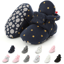 Newborn Boy Girl Baby Socks Shoes Star Toddler First Walkers Boots Cot