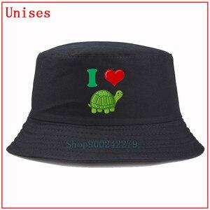 I Heart Love Turtles Милая черепаха забавная Рыбацкая шляпа хип-хоп Панама шапка Рыболовная Шапка для мужчин шапка женская пушистая Панама