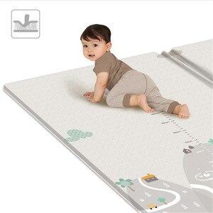 Image 4 - Tapis de jeu pliable réversible imperméable pour bébés, grand Puzzle XPE, tapis de jeu Portable, Double face, pour enfants