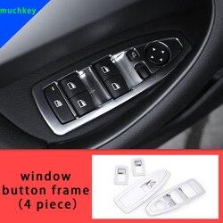 Dla BMW X1 F48 2016-2019 okno rama przycisku chrome odlewnictwo wykończenia 4 sztuk