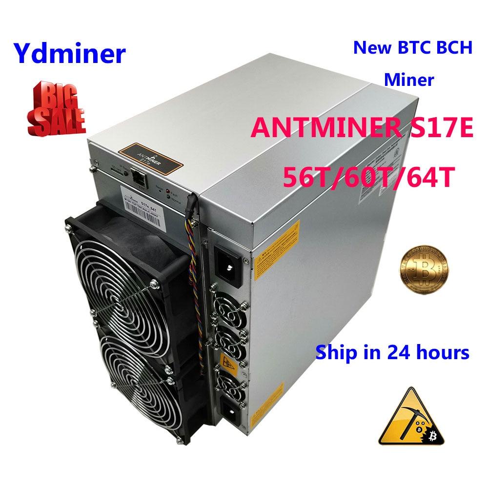 Nouvel ASIC Antminer S17e 64T PSU mineur mieux que Bitmain S9 T9 + T17 S17 S17 + INNOSILICON t2T T3 T3 + WHATSMINER M3 M1 M21S M20S