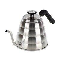 V60 edelstahl feinen mund topf 1200ML mit thermometer hand-made kaffee topf kaffee maker kaffee utensilien