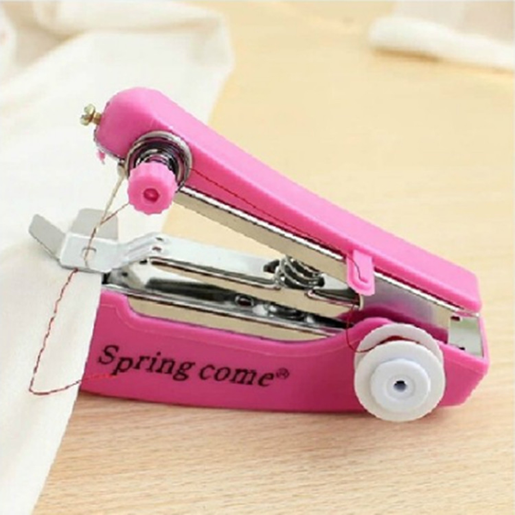 1 шт. Портативный мини ручная швейная машина простой Управление швейные инструменты швейная ткань удобный инструмент для рукоделия бытовой