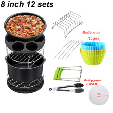 Grill-Pot Pizza-Plate Air-Fryer-Accessories Cooking-Tool Baking-Basket Kitchen for Party