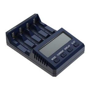 SKYRC NC1500 5V 2.1A 4 слота LCD AA/AAA зарядное устройство и анализатор NiMH батареи зарядное устройство Разрядка и обновление