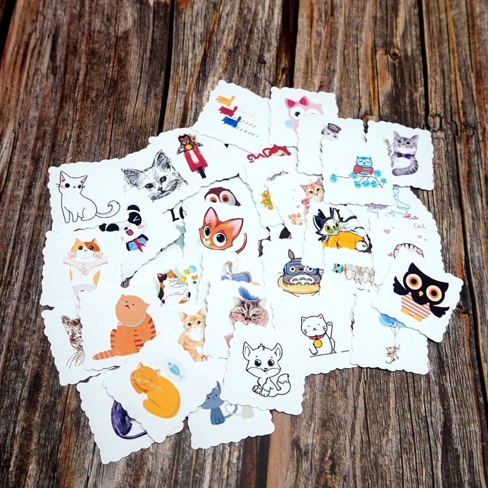 35pcs Kawaii Animals Waterproof Stickers DIY Laptop Phone Skateboard Suitcase Guitar Luggage Sticker Kids Students Gift Sticker