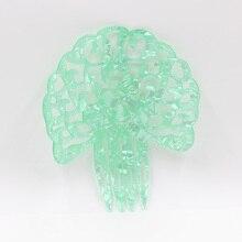 Pente de cabelo ácido acético placa uma variedade de cores moda feminino festa de férias headdress decoração