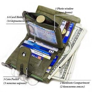 Image 3 - KAVIS 100% ของแท้ Cowhide หนังผู้หญิงกระเป๋าสตางค์หญิง PORTFOLIO Portemonnee กระเป๋าเหรียญขนาดเล็ก Walet กระเป๋าแฟชั่น