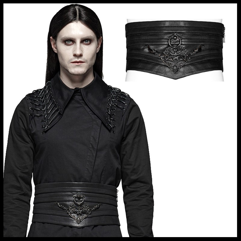 PUNK RAVE Men Steampunk Retro Party Waist Blet Gothic Gorgeous Girdle Halloween Stage Perform Party Men Clothes Accessories
