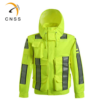 Safety Reflective Jacket Windproof Waterproof Cycling Bike Bicicleta Motocross Windcoat Long sleeve Raincoat - discount item  50% OFF Workplace Safety Supplies
