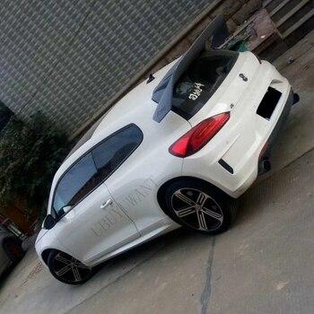 Estilismo para automóvil compatible con Volkswagen Scirocco 2010 + ABS, alerón de techo trasero, alerón de maletero, alerón de maletero