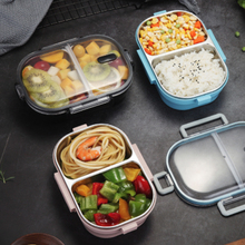 650 ML Portable Lunch Box For Kids School 304 Stainless Steel Bento Kitchen Leak-Proof Food Container