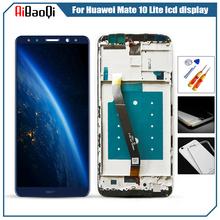5 9 #8222 dla HUAWEI Mate 10 Lite wyświetlacz LCD ekran dotykowy z ramką dla HUAWEI Nova 2i honor 9i wyświetlacz LCD RNE-AL00 G10 Plus tanie tanio AiBaoQi CN (pochodzenie) Pojemnościowy ekran 2160*1080 3 Mate 10 Lite Nova 2i honor 9i RNE-AL00 5 9inch Tested before Sending