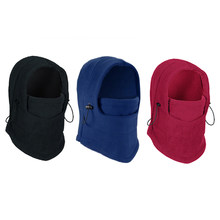 Bonnets en molleton thermique avec masque, couvre-chef, cache-cou, coupe-vent, pour l'extérieur, collection hiver nouveauté