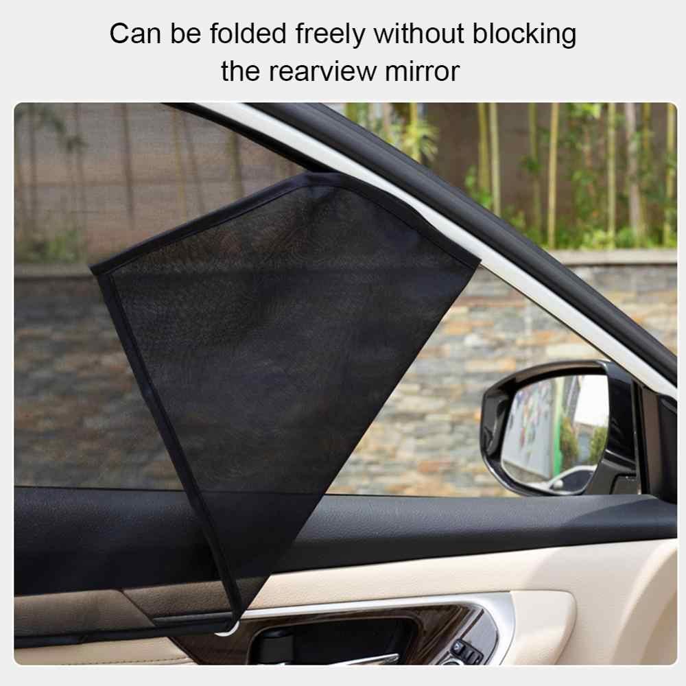4PCS Magnetische Auto Sonnenschutz UV Schutz Vorhang Fenster Sonnenschirm Seite Fenster Mesh Sonnenblende Sommer Schutz Windows Film CSV