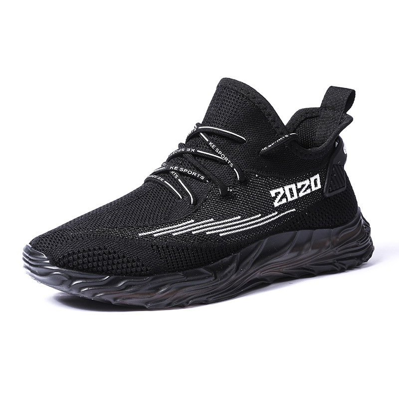 2020 New Outdoor 3 Colors Free Running Jogging Men Walking Sports Shoes High quality Lace up