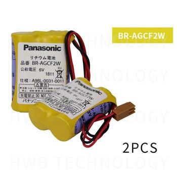 2 unids/lote nueva fecha 100% Original nuevo BR-AGCF2W de litio 6V baterías para PLC marrón con enchufe para Fanuc envío gratuito