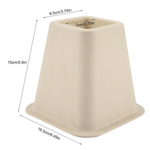 Image 4 - Imitation Porcelain Furniture Raisers Set of 4 For Bed Risers Chair Desk Table Wood Floor Feet Protectors Furniture Risers