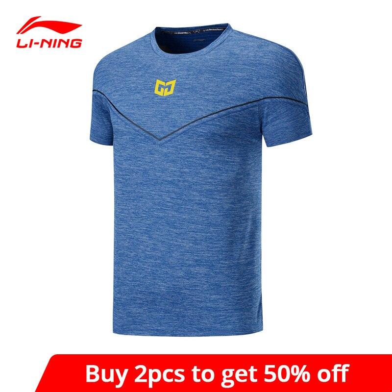 Мужская баскетбольная футболка Li Ning, Спортивная футболка из 99% полиэстера, с нейлоновой подкладкой, ATSP081, MTS3099|Баскетбольные майки|   | АлиЭкспресс