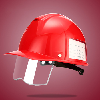 Safety Helmet ABS Hard hat with Half Protective Screen Work Cap Construction site Electrician Insulation Helmets High Strength safety helmet hard hat work cap abs material construction protect helmets high quality breathable engineering power labor helmet