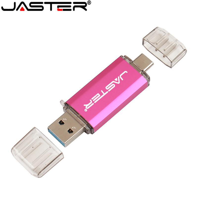 JASTER 2 In 1 USB Flash Drive USB 3.0 & OTG & Type-C Micro USB 128GB Pendrive 64GB 32GB 16G Pen Memory Stick Dual Type C