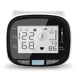Medical Wrist Digital Blood Pressure Heart Rate BP Monitor Tensiometer BP Pulse Rate Meter Manometer Automatic Sphygmomanometer