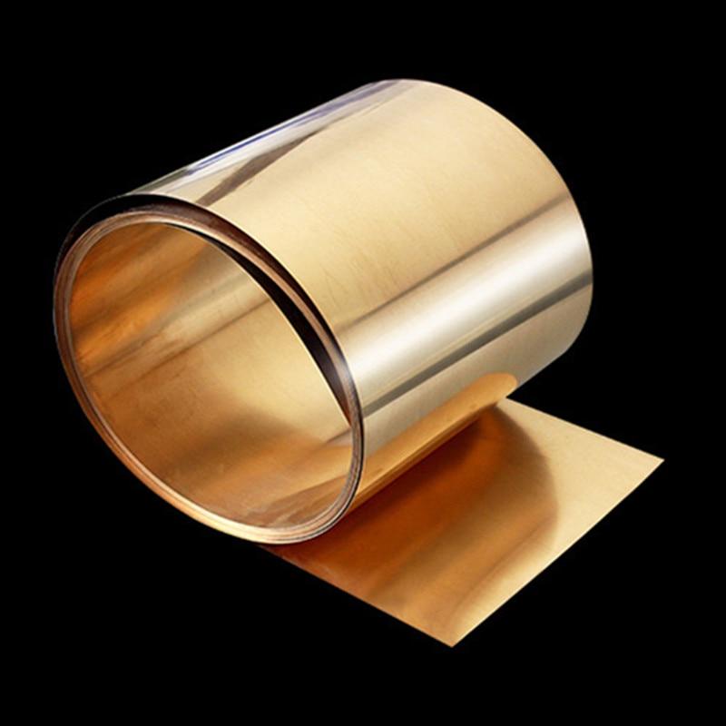0.1x200mm C17200 Beryllium Bronzer Strip Foil Sheet Industry DIY Experiment Copper Sheet 1meter