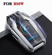 Yüksek kaliteli TPU anahtar durumda katlanır anahtar kılıf koruyucu kabuk tutucu BMW 7 serisi için 740 6 serisi GT 5 serisi 530i X3 ekran tuşu