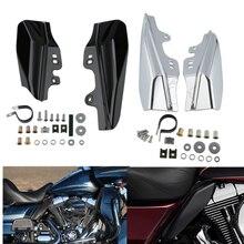 купить Chrome Mid-Frame Air Deflectors For Harley Touring Street Road King Electra Street Glide FLHR FLTR 2001-2008 дешево