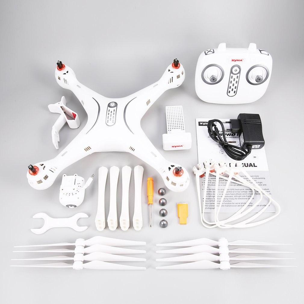Syma X8PRO 2,4G GPS posicionamiento FPV RC Drone Quadcopter con 720P HD Wifi Cámara ajustable en tiempo Real altura mantener sin cabeza hi