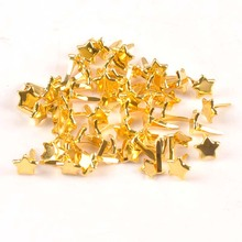 Golden Star Brads Scrapbooking Embellishment Fastener Brads Metal Crafts For Paper Decoration 8x11mm cp2403