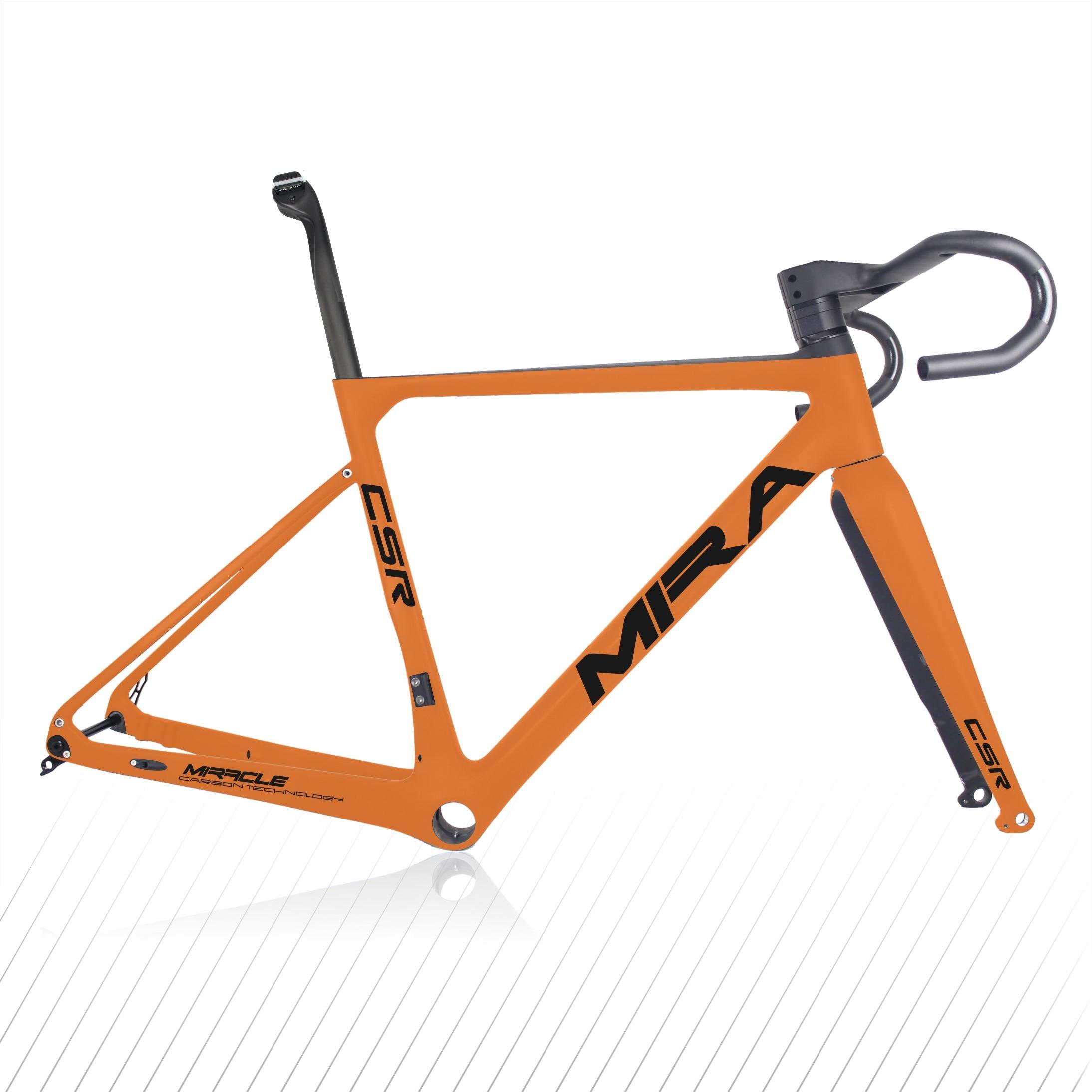 Top Sale Carbon Gravel Frame Aero Carbon Cyclocross Frameset Full Internal Cable 142*12mm Rear Thru Axle Gravel Bike