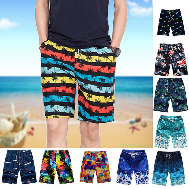 Summer Quick Dry New Men's Beach Shorts Summer Sports Board Print Pants Casual Fashion Swimming Shorts Oversized шорты мужские 2