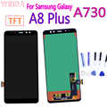 A730 LCD Display Für Samsung Galaxy A8 Plus A8 + 2018 Touchscreen Digitizer Montage für A730F A730F/DS a730x Ersatz Teile